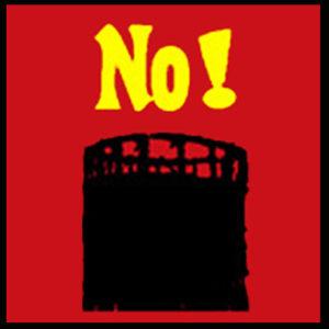 Deinen Protest sichtbar machen, indem Du das NO!-Logo gegen die Gasometerbebauung in Dein(e) Fenster hängst.